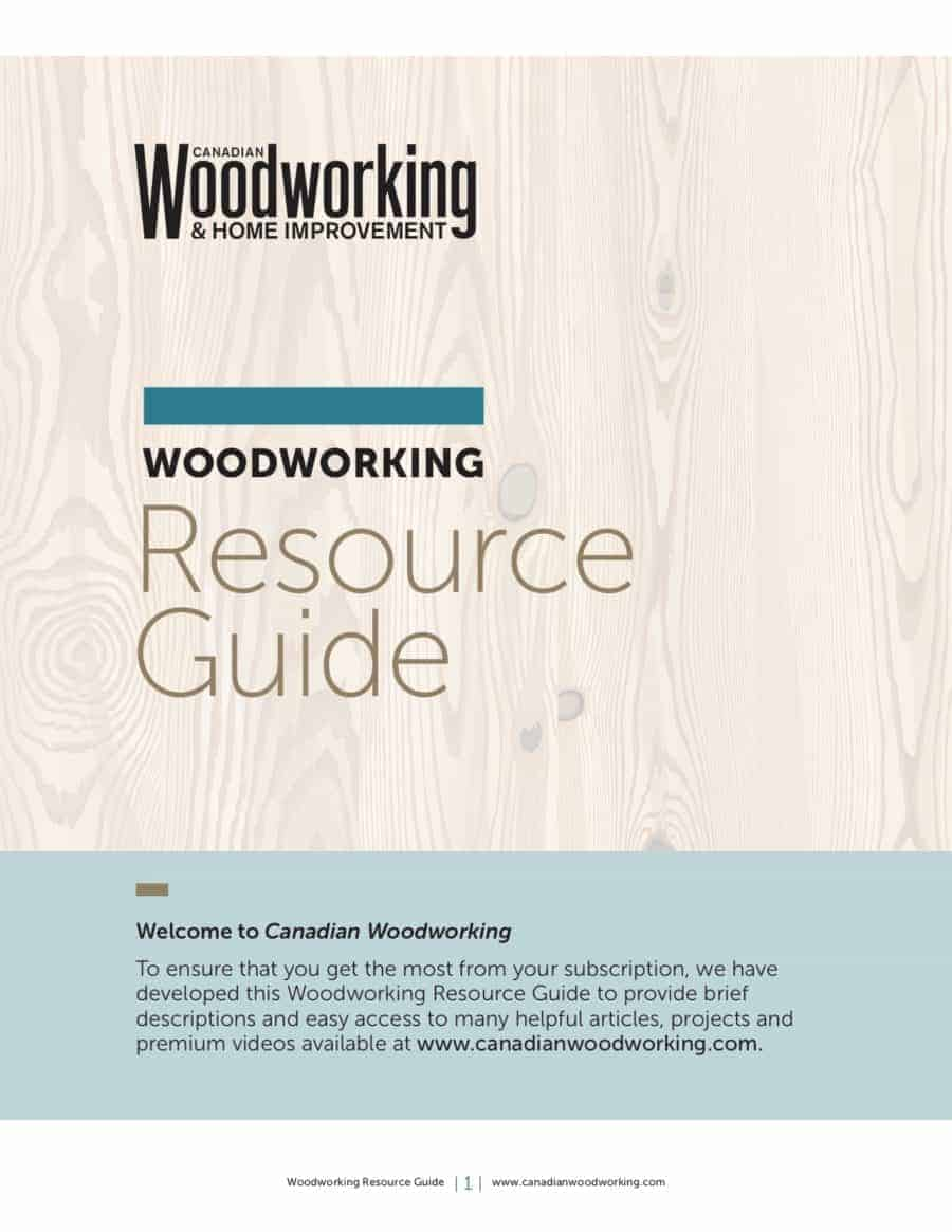 canadian woodworking Resource guide