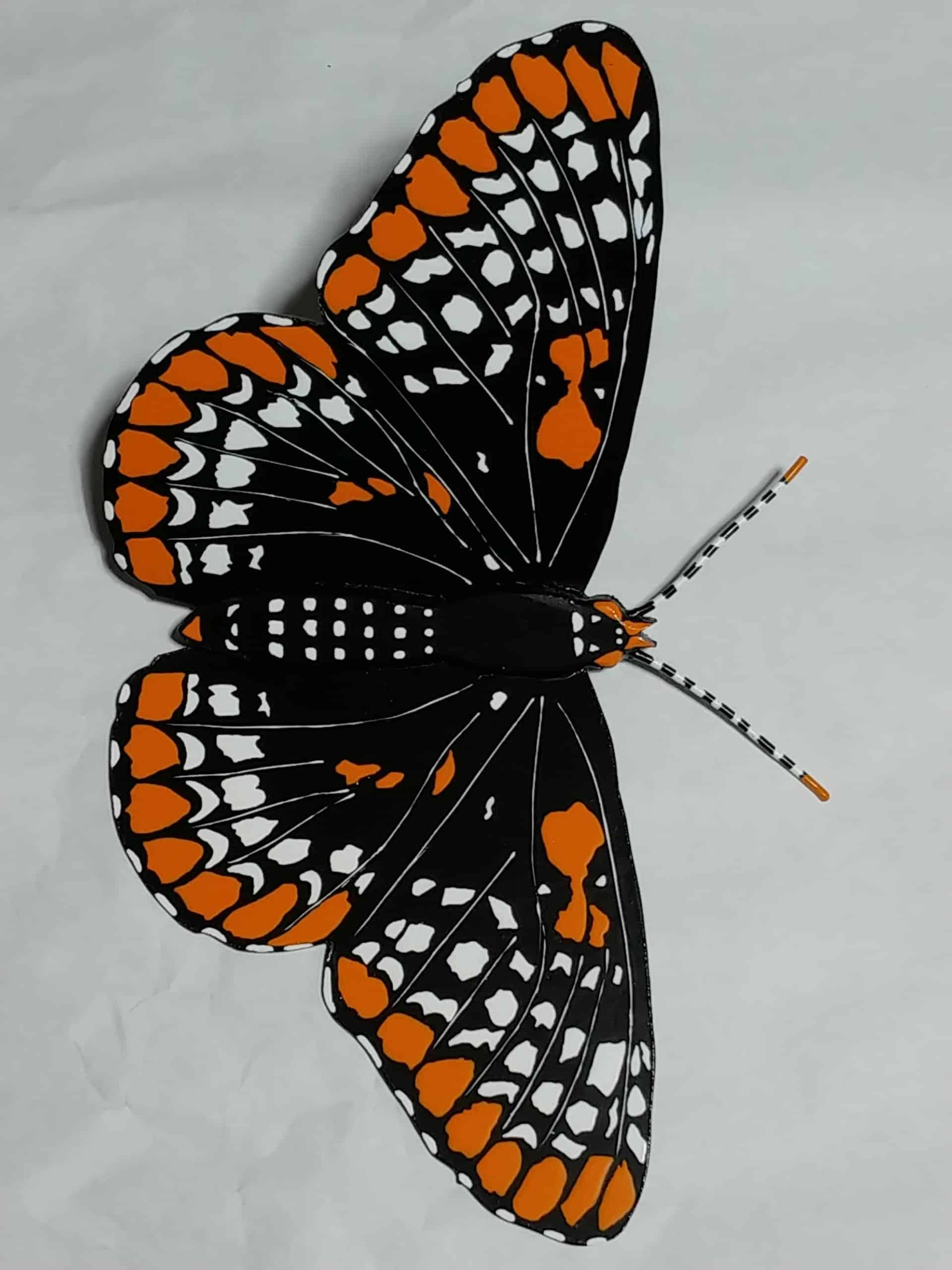 Hand painted wood butterfly