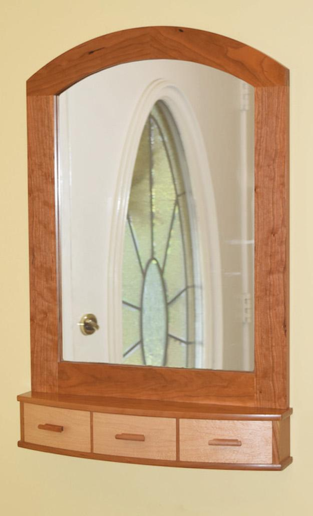 Build an Arched-Top Wall Mirror with Curved Drawers