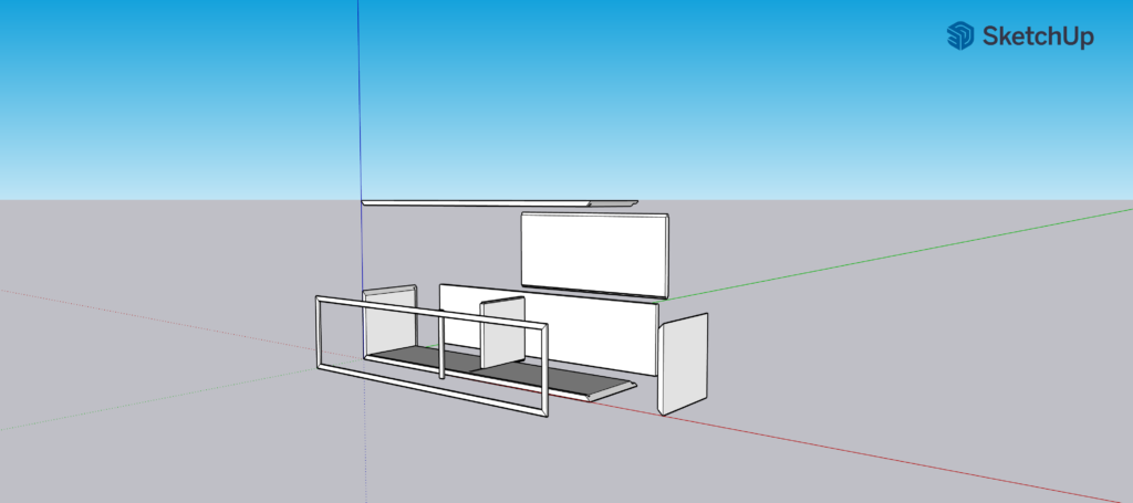 Book cabinet SketchUp file by Len Churchill exploded