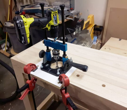 rockler drill guide drilling dog holes
